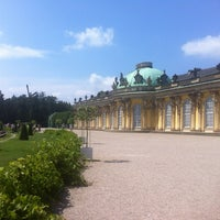 Photo taken at Schloss Sanssouci by Filiz on 7/6/2012