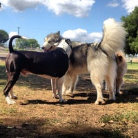 Photo taken at Sepulveda Basin Off-Leash Dog Park by madMELO N. on 9/11/2012