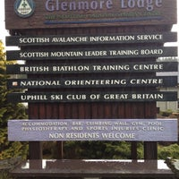 Photo taken at Glenmore Lodge by Rene L. on 4/25/2012