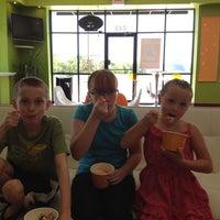 Photo taken at Orange Leaf by Brandi V. on 8/2/2012