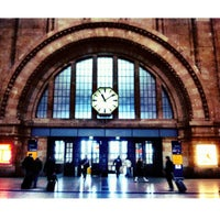 Photo taken at Leipzig Hauptbahnhof by Özge O. on 2/14/2012