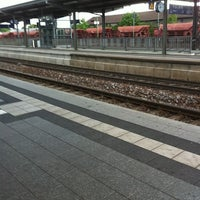Photo taken at Bahnhof Bruchsal by wordass on 7/18/2011