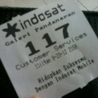 Photo taken at Galeri Indosat by Anisa P. on 8/23/2012
