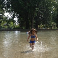 Photo taken at Volunteer Park Wading Pool by Daryn N. on 7/14/2012
