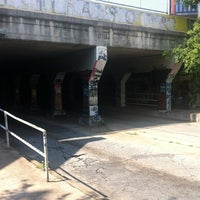 Photo taken at Krog Street Tunnel by Stephanie B. on 6/23/2012
