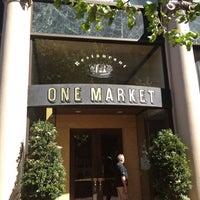 Photo taken at One Market Restaurant by Albie M. on 6/9/2012