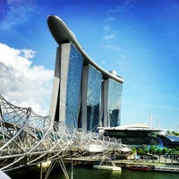 Photo taken at Marina Bay Sands Hotel by Toddy C. on 7/23/2012
