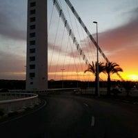 Photo taken at Puente Del Bimilenario by Gold C. on 4/12/2012