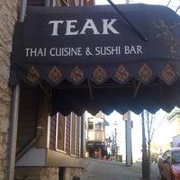 Photo taken at Teak Thai Cuisine & Sushi Bar by TheLastDon154 on 3/10/2012