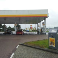 Photo taken at Shell Station Hellevliet by Dennis D. on 7/8/2012