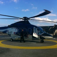 Photo taken at Copterline / City Hall Heliport (CHE/EECL) by Joni on 4/27/2012
