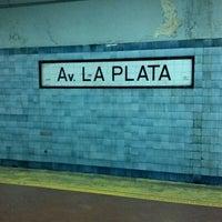 Photo taken at Estacion Av. La Plata [Línea E] by Matuteen on 7/23/2012