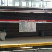 Photo taken at MBTA Ashmont/Peabody Square Station by Tamara H. on 2/4/2012
