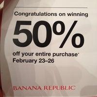 Photo taken at Banana Republic by Scott P. on 2/26/2012