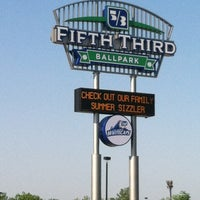 Photo taken at Fifth Third Ballpark by Michelle A. on 5/19/2012