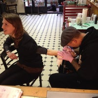 Photo taken at Modern Tattooing: Schiffmacher & Veldhoen by Stef G. on 3/20/2012