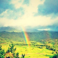 Photo taken at Hanalei Valley Lookout by Jeff V. on 6/26/2012