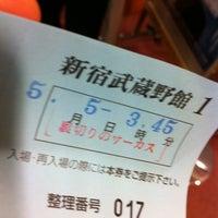 Photo taken at 新宿武蔵野館 by Iwasaku T. on 5/5/2012