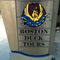 Photo taken at Boston Duck Tour (Prudential Center) by Anna on 4/6/2012