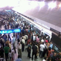 Photo taken at Rajiv Chowk | राजीव चौक Metro Station by Pankaj K. on 5/5/2012
