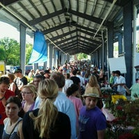 Photo taken at Fulton Street Farmer's Market by Christopher A. on 5/19/2012