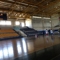 Photo taken at Xavier School Wooden Court by Rica  V. on 4/21/2012