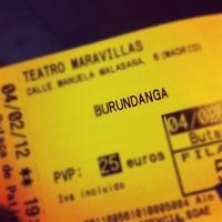Photo taken at Teatro Maravillas by Jon D. on 2/4/2012