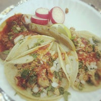 Photo taken at Los Compadres Taco Truck by Dev on 9/7/2012