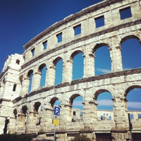 Photo taken at Arena Pula | The Pula Amphitheater by Elena on 8/29/2012