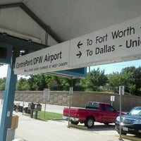 Photo taken at CentrePort / DFW Airport Station (TRE, DART bus, The T) by Spencer K. on 8/8/2012