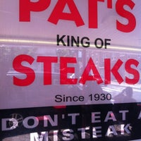 Photo taken at Pat's King of Steaks by Angela C. on 7/2/2012
