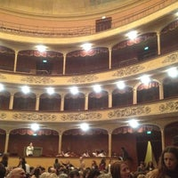 Photo taken at Teatro Storchi by Ali M. on 3/31/2012