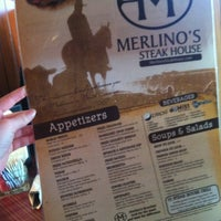 Photo taken at Merlino's Steak House by Rebecca A. on 4/16/2012