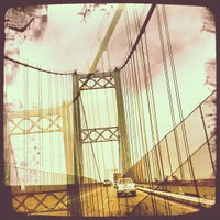 Photo taken at Vincent Thomas Bridge by Steve K. on 7/25/2012