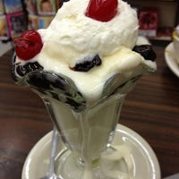 Photo taken at Highland Park Old-Fashioned Soda Fountain by Traci S. on 2/23/2012
