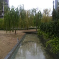 Photo taken at Parc del Centre del Poblenou by Baradach on 4/12/2012