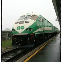 Photo taken at Burlington GO Station by Katerina💠 on 4/23/2012