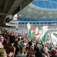 Photo taken at Olympic Stadium (Engenhão) by Marcos F. on 7/8/2012