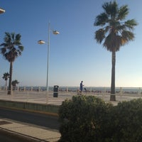Photo taken at Playa de Valdelagrana by Pat F. on 8/23/2012