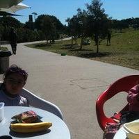 Photo taken at Sydney Park Kiosk by Andrew G. on 9/3/2012