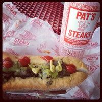 Photo taken at Pat's King of Steaks by Stephen M. on 7/24/2012