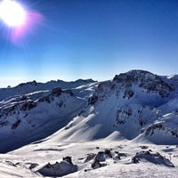 Photo taken at Tignes by Kris T. on 2/21/2012