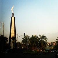 Photo taken at Tugu Kujang Bogor by Rezza H. on 6/27/2012