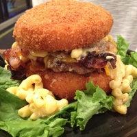 Photo taken at Zombie Burger + Drink Lab by Bri N. on 4/20/2012