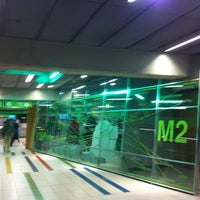 Photo taken at Metro Garibaldi FS (M2, M5) by Antonella A. on 5/9/2012