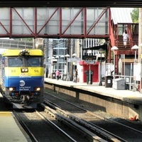 Photo taken at LIRR - Mineola Station by Jason R. on 4/17/2012