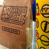 Photo taken at Which Wich? Superior Sandwiches by Mark D. on 4/26/2012