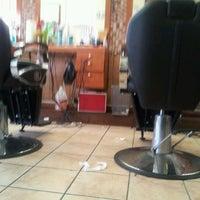 Photo taken at Frankie Vegas Barbershop by Jaime G. on 3/9/2012