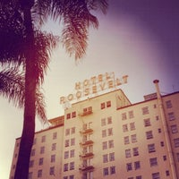Photo taken at The Hollywood Roosevelt by Emile H. on 5/18/2012