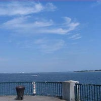 Photo taken at Canarsie Pier by Laritza Queen HoneyBee on 7/4/2012